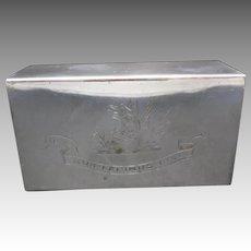 Silver plated Match box qua fecimus ipsi Fulton Family motto SCOTLAND