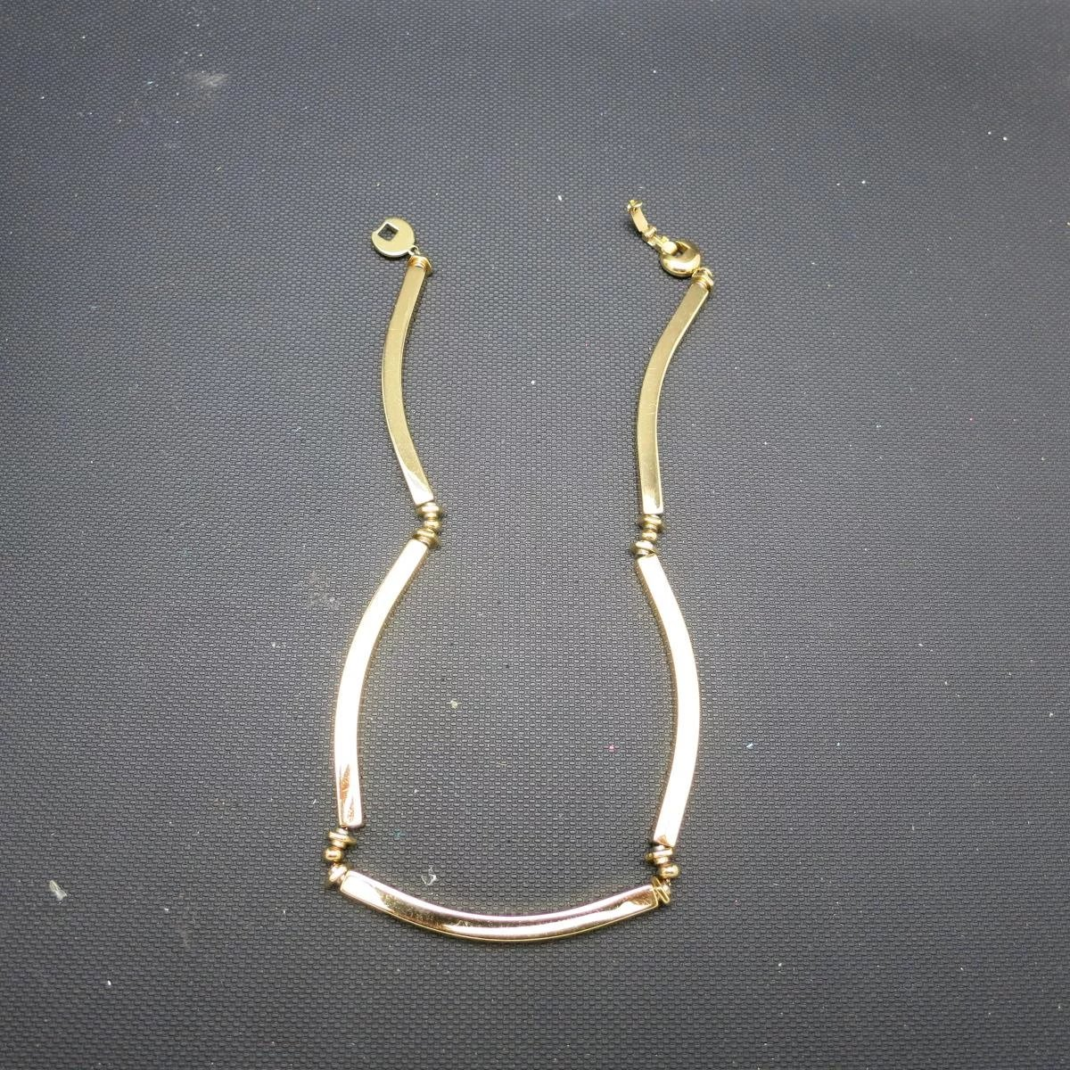 Is Monet Jewelry Real >> Monet necklace GOld tone metal Long links : Unsigned Beauty Jewelry | Ruby Lane