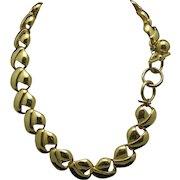 Vintage Anne Klein necklace GOld tone metal Links