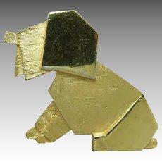 trifari Dog pin GOld tone