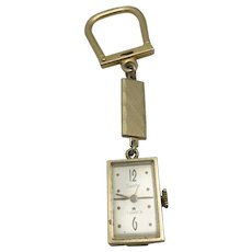 Key Fob Gold tone metal SWANK Watch