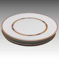 Bernardaud dinner plates Saffron safran limoges france