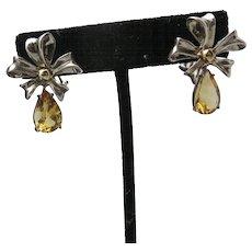 Tiffany Bow earrings Sterling silver 18 K yellow gold