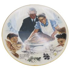 Norman rockwell thanksgiving Plate Decorative
