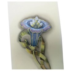 Jewelry illustration Hand painted Flower brooch