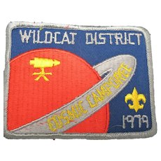 Boy scouts Wildcat district sew on patch 1979