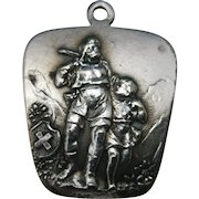 Swiss st christopher medal Silver plated
