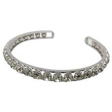 RHinestone bracelet Krementz Top Quality Vintage Cuff