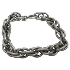 Napier Charm Bracelet Silver tone metal Pewter Starter