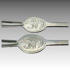 Mappin and Webb Seafood forks Shrimp engraved