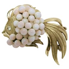 Fancy goldfish PIN Angel skin coral Costume jewelry