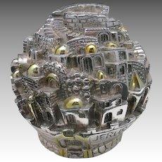 Jeruslem Clad Sterling silver Bank Israel judaica
