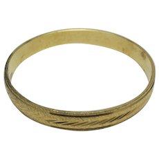 Vintage Trifari Bracelet Yellow gold tone BANGLE