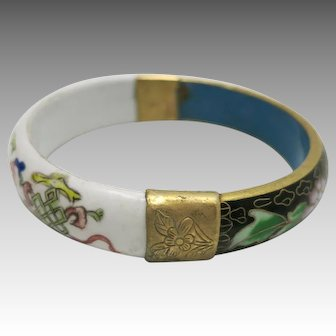 Chinese bracelet Porcelain and cloisonne Very nice quality