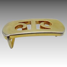 Pierre Cardin belt buckle Yellow gold LOGO