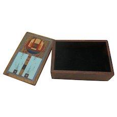 Mckeown Wood box hand made inlaid
