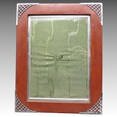 Sterling silver FRAME ENGLAND 1901 Leather