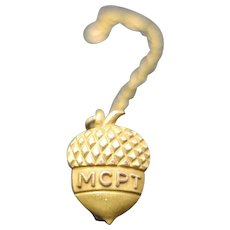 Acorn pin Fraternal yellow gold filled TINY MCPT