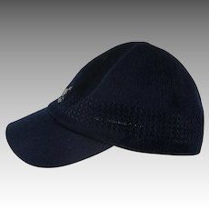 Vintage Kangol hat Navy Blue Brim medium