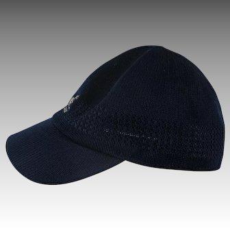 Vintage Kangol hat Navy Blue Brim medium