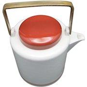 Dansk Tea pot Porcelain Brass handle Japan