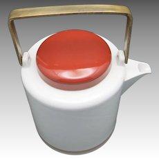 Japanese tea pot Dansk White Brass handle