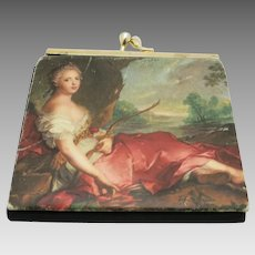 Arty wallet Black Kiss Clasp Lovely painting