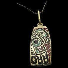 Greg Horner Alaskan Artist Enamel Eagle Pendant