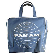 Pan Am Vintage carry on bag seventies Airline