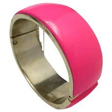 New Wave Bracelet HOT Pink Bangle wide