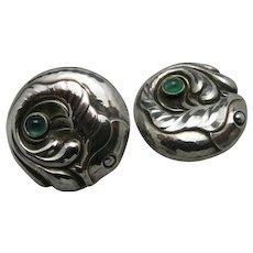 Georg Jensen Earrings Clip on Sterling silver Fish