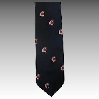 Vintage Santa TIE Christmas Marshall Fields