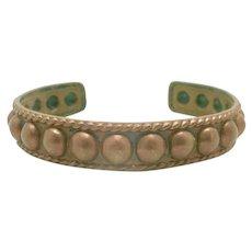 Copper cuff bracelet southwestern raised Beaded dots