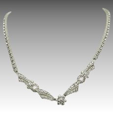Sterling silver Rhinestone Necklace Beautiful Bride Best quality