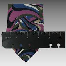 Vintage Pierre Cardin tie Swirly pink Purple