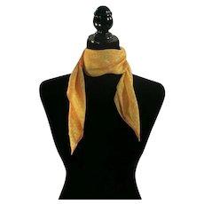 Yellow and Orange abstract scarf Silk VERA