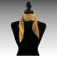 Yellow and Orange abstract scarf Silk VERA