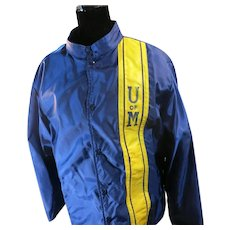 Michigan Jacket Racing stripes U of M Blue GOLD