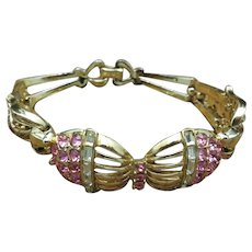 Beautiful CORO Bracelet Pink rhinestones
