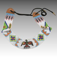 Hat band Southwestern Motifs Loomed Seed Beads