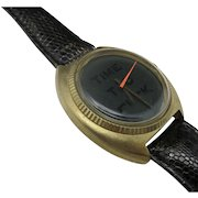Novelty wrist watch Time to **** Lizard band