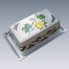 Portmeirion Botanic Garden Covered Butter Dish, England