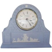 Blue Wedgwood Jasperware Clock