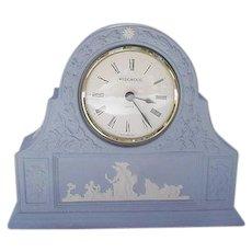 Blue Wedgwood Jasperware Clock