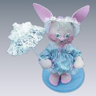 Annalee Bunny Doll with Parasol, 1988