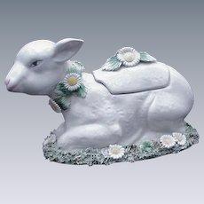 Italian Ceramic Soup or Sauce Tureen, Easter Lamb