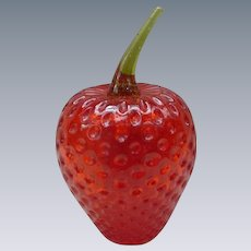 Red Strawberry Paperweight