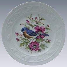 Mottahedeh Eastern Bluebird Dessert Plate