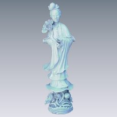Serene Quan Yin Figurine, Marked China