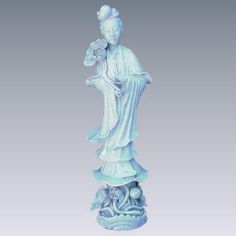 Serene Quan Yin Figurine, Marked China